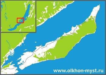 Карта Ольхона