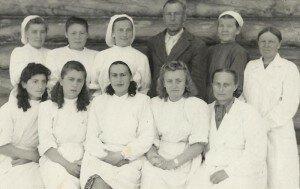 Медперсонал Хужирской больницы 1953